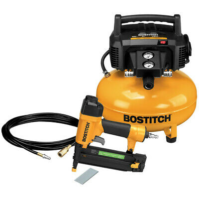 Bostitch 18-Gauge Brad Nailer and Compressor Combo Kit BTFP1KIT-R Reconditioned
