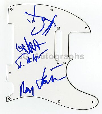 Kraftwerk - Authentic Autographed Guitar Pick Guard - Signed by 4