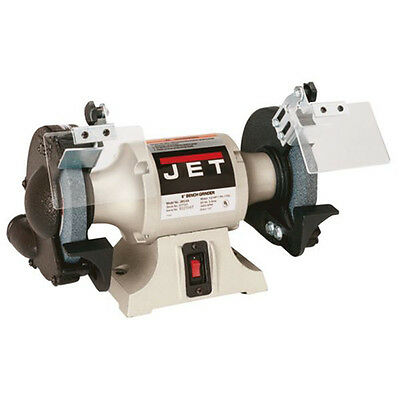 "JET 6"" 1/2 HP 1-Phase Industrial Bench Grinder 577101 New"