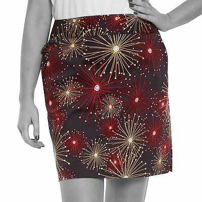 Funky Donna Golf Skort by Royal and Awesome Ka-Boom Fuochi d'artificio Gonna/
