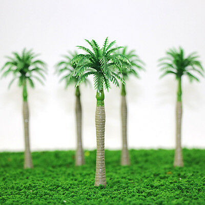 YS03 20pcs 4.5inch Model Coconut Trees Palm Model Layout Train Scale 1/100 TT HO