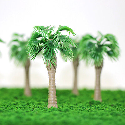 YS07 20pcs 3 inch Model Fan Palm Trees Model Layout Train Scale 1/100 TT HO NEW