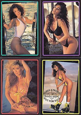 Benchwarmer Series 2 1993 Bench Warmer Complete Promo Card Set 1 To 4