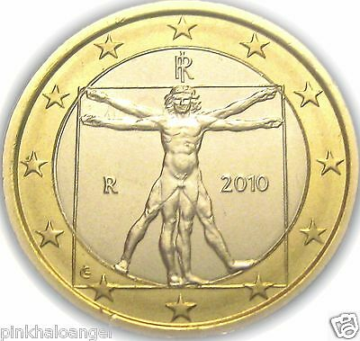 Leonardo da Vinci Masterpiece on an Italian Euro Coin UNCIRCULATED Italy