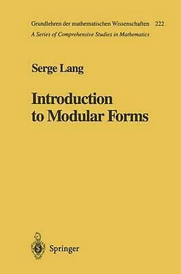 Introduction to Modular Forms by Serge Lang (English) Paperback Book Free Shippi