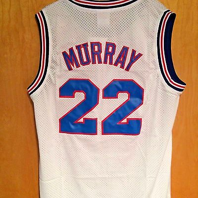 Bill Murray #22 Space Jam Tune Squad Basketball Jersey White S M L XL XXL