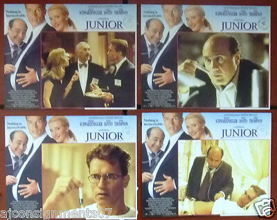 "JUNIOR Arnold Schwarzenegger 11 x 14"" Original Set of 8 Film Lobby Card 90s"
