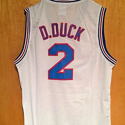 DAFFY DUCK  2 Space Jam Tune Squad Basketball Jersey S M L XL XXL ... df8be5998