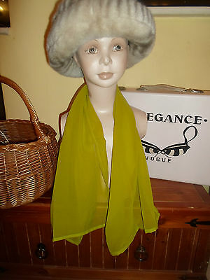 1 NEW Colourful Mixed Fibre Ladies Scarf PLAIN LIME GREEN ~ Gift Idea #81