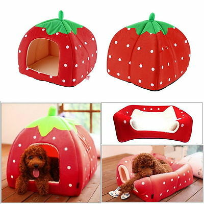Washable Warm Bed Igloo House Soft Luxury Mat Basket For Pet Puppy Dog Cat
