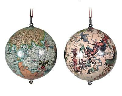 G332: A Pair Miniature Globes, Canopy and Earth,The Earth & the Heavens um 1550