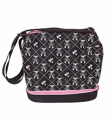 Horizon Dance Little Girls Black Embroidered Ballet Shoes Dance Bag - NWT