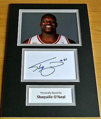 Shaquille O'neal Hand Signed Autograph A4 Photo Display Gift Basketball & Coa