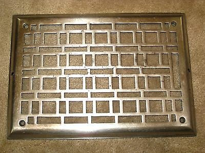 Vintage Art Deco Chrome Plated Cast Iron Heat Register / Cold Air Return Grate
