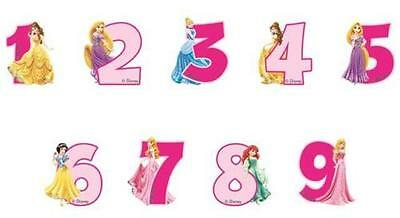 Disney Princess Party Number/Age Candles - You Choose the Age