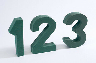 Oasis Floral Foam Number with Clips 0-9 Available funeral, memorial tribute