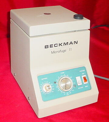 Beckman Microfuge 11 Variable Speed Tabletop Benchtop Centrifuge with Rotor