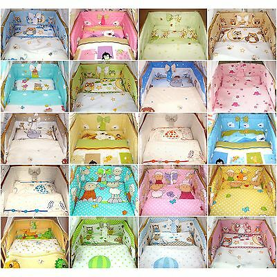 2pc / 3 piece ANTI-ALLERGY Baby Bedding Set 120x90 135x100 Bumper Cot Bed Cover