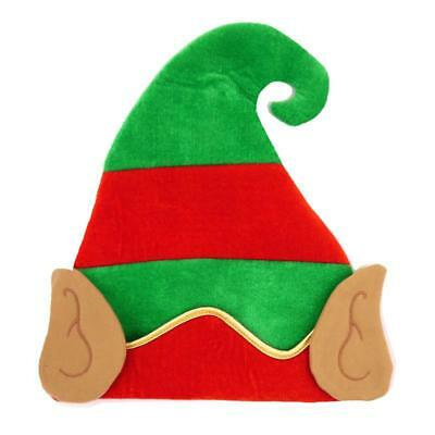 ELF HAT WITH EARS CHRISTMAS FANCY DRESS COSTUME ACCESSORY SANTA/'S HELPER PIXIE