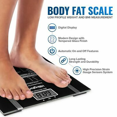 Digital Body Fat Analyser Scales Bmi 150Kg Weighing Bathroom Scale Weight Loss