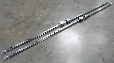 C120354 Lot 2 CPC Linear Slide Rails (23mm wide x 1980mm long), 4 Bearing Blocks