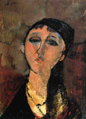 Nice art Oil painting amedeo modigliani - Portrait of a Young Girl (Louise) AAAA