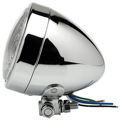 Cycle Standard 3-1/2 inch diameter Chrome Bottom Mount Headlight