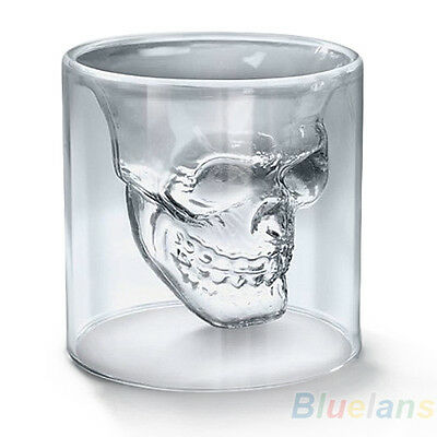 Designer Skull Head Shot Glass Fun Doomed Transparent Home Party Fantastic