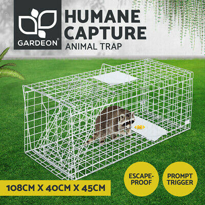 XXL Large Humane Animal Trap Cage Possum Fox Koala Rabbit Bird Cat Live Catch