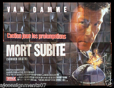 Mort Subite, Sudden Death {JEAN CLAUDE} 400cmx300cm French Movie Billboard 90s