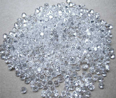 White/Clear Round Brilliant Cubic Zirconia 2mm-3.8mm CZ