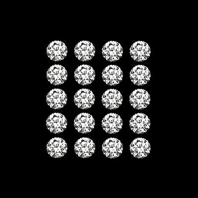 20 x Swarovski Pure Brilliance Cut Cubic Zirconia 1mm - 1.9mm Diameter CZ