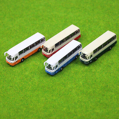 4pcs Model Cars Buses 1:150 N Scale Railway Layout Plastic NEW Free Shipping