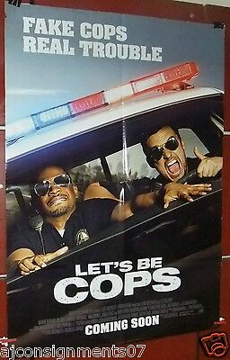 "LET'S BE COPS {JAKE JOHNSON} Double Sided 40x27"" Original Movie Poster 2000s"