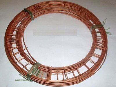 "8"" flat  wire wreath round  rings holly mossing  christmas frames choose amount"