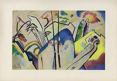 """1958 Vintage KANDINSKY /""""PAINTING WITH WHITE FORMS/"""" COLOR Art Print Lithograph"""