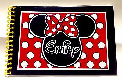 Personalized Disney MINNIE MOUSE  Autograph Book 25 Pages - Free Personalization