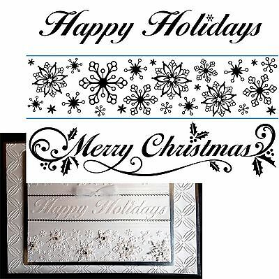 Darice Embossing Folders Christmas SEASONAL BORDERS 1218-83 Holidays set