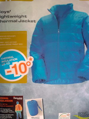 Boys'  lightweight Thermal Blue Jacket Size 140, 9-10 Years   NEW