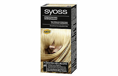 Syoss Professional Performance Permanent Hair Colour 9-1 Ultra Light Blonde