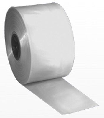 "8"" x 1100' Roll of 4-Mil Clear Poly Tubing"