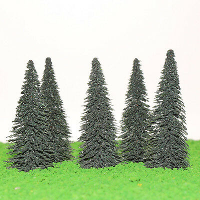 S0404 20pcs 10cm Model Train Trees Cedar Railroad Scenery Layout TT HO Scale NEW