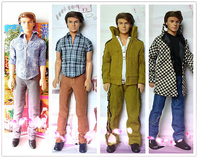 brand new lot 4 outfits shirts pants for barbie boyfriend ken doll