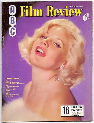 ABC Film Review Vol 15 No 1,1965,Carroll Baker on cover,John Leyton inside
