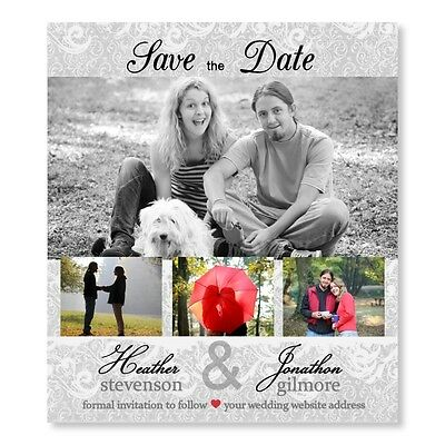 Save the date wedding invitation magnet cinderella for Wedding invitations 50 cents each
