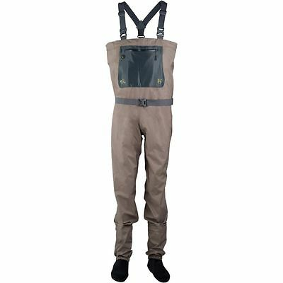 Size Xl New Hodgman H3 Stockingfoot Breathable 3 Layer Fishing Waders With Belt