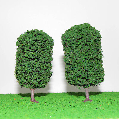 10pcs Ball-shaped Trees Model Train Wargame Diorama Architecture Scenery 12cm