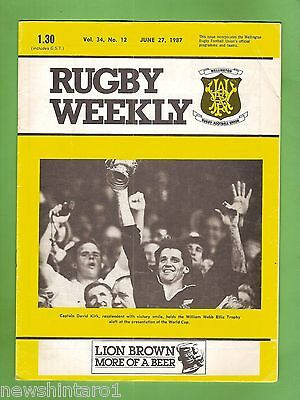 #ss. New Zealand Rugby Weekly Program-  27Th June 1987