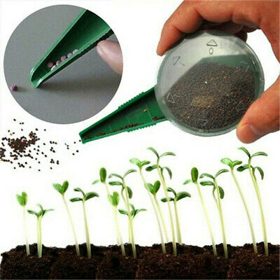 1PC Adjustable Plastic Green Dial Seed Sower Planter Flower Grass Gardening Tool