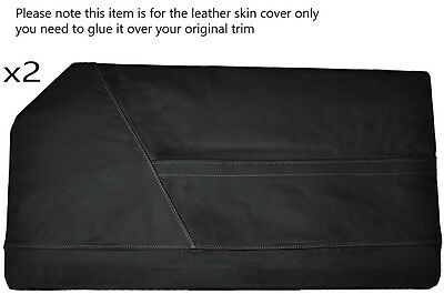Grey Stitching 2X Full Door Card Leather Skin Covers Fits Bond Equipe